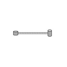 Asista MTB Universal bromskabel Bromsvajer 205cm